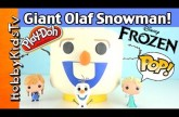 Play-Doh GIANT Lego Head OLAF Snowman Makeover! Surprise Eggs+ Batman Sings HobbyKidsTV