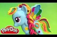 Play Doh Rainbow Dash My Little Pony Style Salon Playset Review PlayDough Salon Branché