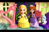 Princess Amber and Royal Harp From Disney Sofia the First in Magical Talking Castle Playset