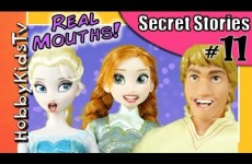 REAL Mouths Talking Barbie Dolls! Frozen Secret Stories PART 11 Toy People HobbyKidsTV