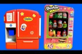 SHOPKINS Season2 Fluffy Baby So Cool Fridge VS. Vending Machine Storage Baskets Comparison