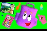 Talking Dora the Explorer Backpack Surprise Toys Eggs Play-Doh Shopkins Corny Cob Disney Frozen Elsa