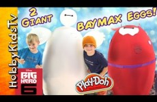 Worlds 2 Biggest BAYMAX Eggs! Epic Toys Inside: Big Hero 6 Disney by HobbyKidsTV