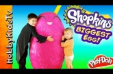 Worlds Biggest SHOPKINS Egg! Toys Inside Season 2 SURPRISE Kinder Chocolate MLP HobbyKidsTV