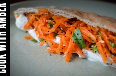 Crunchy Carrot Pita | Cook With Amber