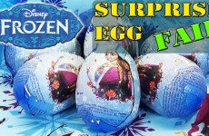 Disney Frozen Surprise Eggs FAIL Movie Olaf Anna Elsa Kinder Sorpresa Huevos by DisneyToyBox
