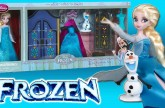FROZEN Disney Store Elsa Mini Doll Wardrobe Playset Outfits Clothing Furniture Shoes with Olaf