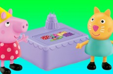 Peppa Pig Birthday Party Peek 'N Surprise Toy Playset Nickelodeon