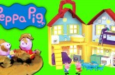 Peppa Pig' Peek 'n Surprise Playhouse Playset and Play Doh Muddy Puddles