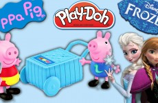 Peppa Pig Play Doh Ice Cream Treats with Princess Anna Queen Elsa George gets Play Dough Ice Cream