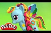 Play Doh Rainbow Dash My Little Pony Style Salon Playset Review PlayDough Salon Branché 2015 NEW
