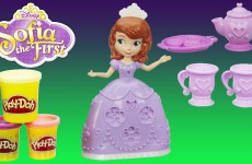 Play Doh Sofia the First Tea Party Set Disney Princess Playdough Playset
