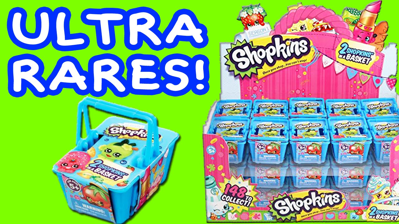 Shopkins Blind Basket Opening With 4 Ultra Rare Shopkins