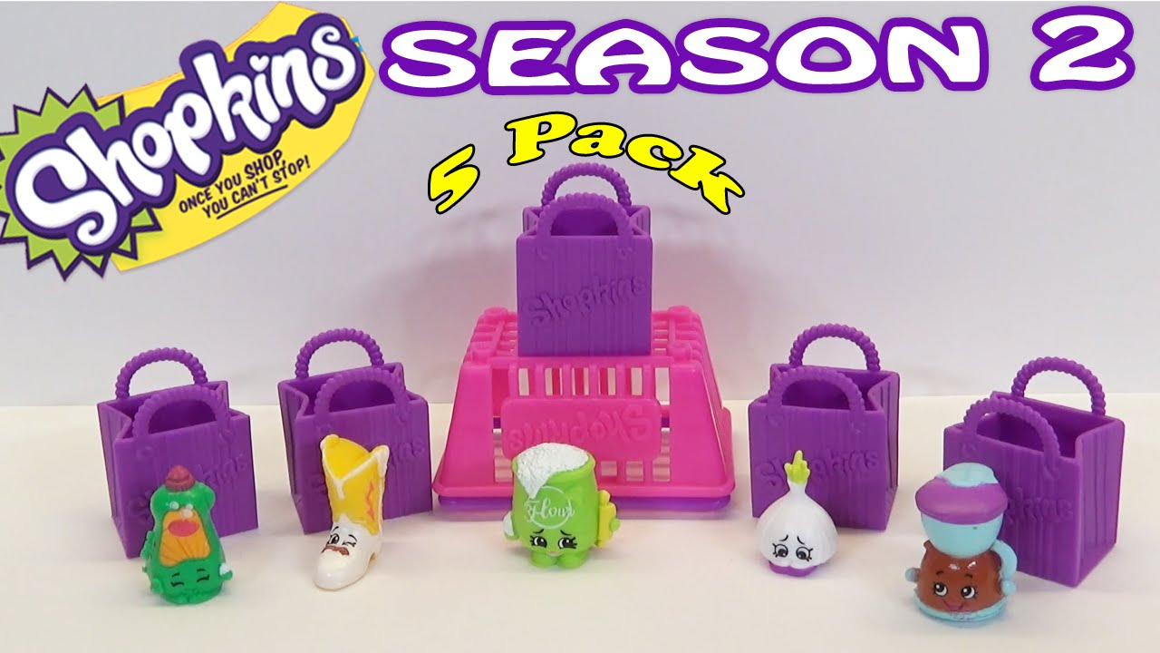Shopkins Season 2 5 Pack Unboxing And Blind Bag