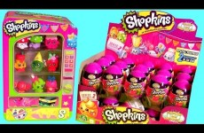 Box of Shopkins Surprise Eggs NEW Toys Using Shopkins Vending Machine Storage Tin Review
