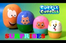 Bubble Guppies Stacking Cups Toy Surprise Eggs from Paw Patrol, Disney Frozen Elsa, Nurse Peppa Pig