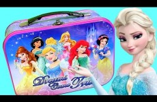 Disney Princesses Lunch Box Surprise Eggs From Frozen Elsa, Glitzi Globe, Pooh, Shopkins, Play Dough