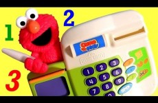 Elmo Cash Register Toy Sesame Street for Babies Toddlers – Caja Registradora De Elmo Plaza Sesamo