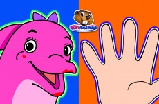 Finger Family Dolphins | Nursery Rhymes to Teach Children, English Learning Song, Surprise Eggs