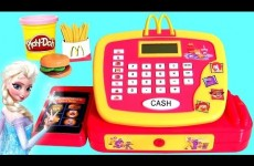 McDonalds Cash Register Toy Happy Meal Toys & Play Doh Surprise Eggs for Queen Elsa Disney Frozen