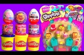 Shopkins Season 3 12-Pack with Play-Doh Surprise Eggs ChupaChups PeppaPig Fashems Princess PlayDough