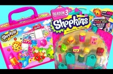 Shopkins Season 3 Lunch Box Basket Surprise with Fashems Disney Princess ClayBuddies Frozen Season3