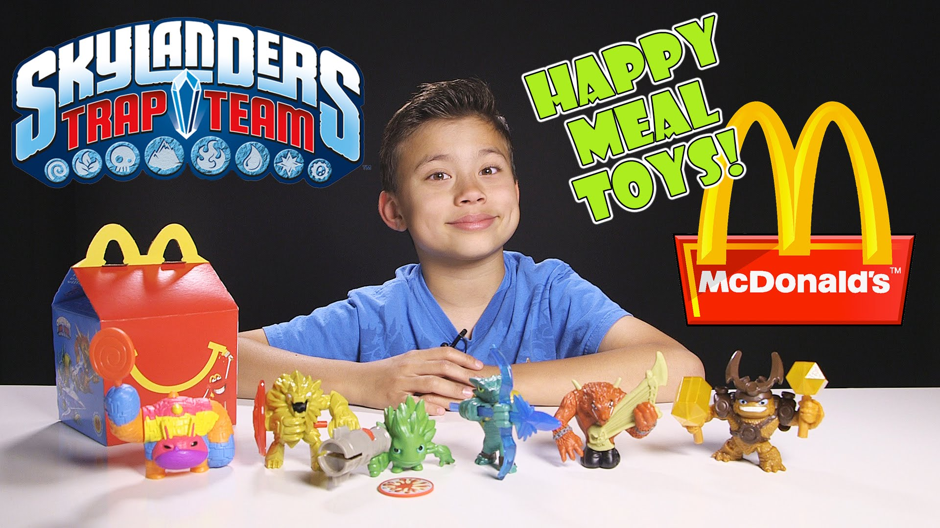 Skylanders Trap Team Happy Meal Toys Complete Collection