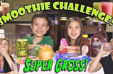SMOOTHIE CHALLENGE! Super Gross Smoothies – GOTTA DRINK IT ALL!