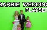 Barbie and Ken Wedding Playset Toy Dolls unboxing presentation review