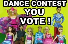 Dance contest ! Barbie Princess Power Kara Super Sparkle Alexa Cinderella Rapunzel Eugene