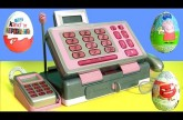 Just Like Home Pink Cash Register Toy Play Doh Surprise Toys Eggs – Caja Registradora para Niñas