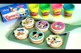 Play Doh Mickey Mouse Clubhouse Wooden Toy Slice & Bake Cookie Dough Set Minnie Donald Goofy