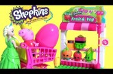Shopkins Blocks Checkout Lane + Shopkins Blocks Fruit & Veggie Stand Similar to Lego Blocks