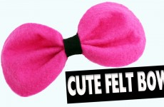 Cute felt bow – Easy Crafts