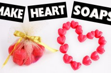 DIY | Cute Heart Shaped Scented  Soaps in less than 5 Minutes – Easy DIY