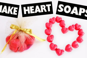 DIY   Cute Heart Shaped Scented  Soaps in less than 5 Minutes – Easy DIY