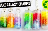 DIY | Nebula Galaxy Bottle Pendant Necklace Tutorial 100% Homemade – Easy DIY