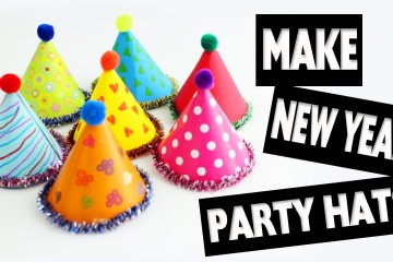 Happy New Year – New Year Doll Hats – Easy Doll Crafts