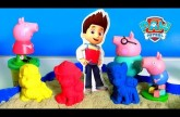 Paw Patrol Kinetic Sand Adventure Bay Beach with Peppa Pig | Plage de La Grande Vallée Sable