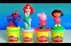 Play Doh Stamper Disney Princess Ariel, Play Doh Stamper Spiderman, Play Doh Stamper Peppa Pig, Dora